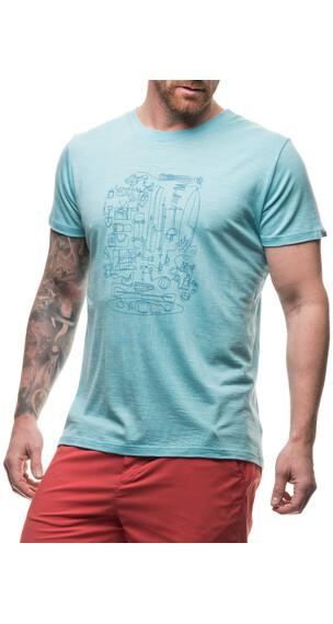 Houdini Activist Message t-shirt Heren turquoise